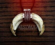 Viking Boar Tusk Pendant in Sterling Silver -- Norse/Celtic/Medieval/Fang/Tooth