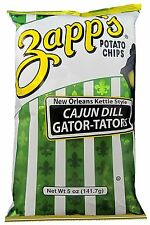 8 BAGS! Zapp's Cajun Dill Kettle Style Potato Chips New Orleans FREE SHIP