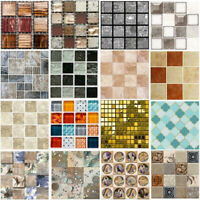 10/20pcs Mosaic Self-adhesive Bathroom Kitchen Decor Home Wall 3D Tile Sticker