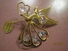 NWT COLLECTIBLE Angel AUSTRIAN Crystal Delight Figurine 24 K Gold Plated Mascot