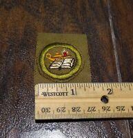 15983/ Vintage Boy Scouts of America Merit Badge ~ READING ~ BSA