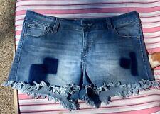 juniors blue denim booty shorts
