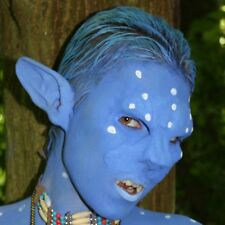 Blue Feline Avatar Ear prosthetics. LRP, LARP, Cosplay