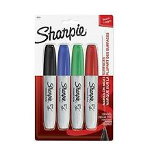 Sharpie Permanent Markers Chisel Tip Classic Colors 4 Count
