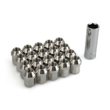 20 M12x1.25 Extended Tuner Wheel Lug Nuts Stainless SteelClosed End Stud w/ Key