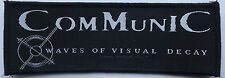 COMMUNIC Waves Of Visual Decay Official Woven Sew On Patch 2006