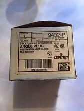 Leviton INDUSTRIAL Straight Blade Angle Plug NEMA 14-30P 30A 125/250 9432-P New