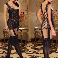 Hot&Sexy Womens Lingerie Lace Body Stockings G-String Underwear Nightwear Dress