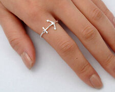 Silver Tiny Anchor Ring Sterling Silver 925 Best Deal Plain Jewelry Size 6