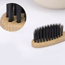 Black Eco-friendly Bamboo Toothbrush Charcoal Soft Bristles Bamboo Handle Great