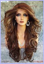 LACE FRONT PIN W/PART CURLY FS8.27.613 GORGEOUS SEXY NEW  US SELLER 1143
