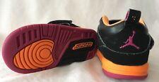 Jordan Shoes Baby Toddler Size 7C Black Orange Pink