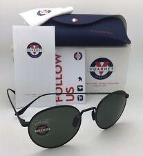 New VUARNET Sunglasses VL 1610 0005 Round Style Black Titanium Frame w/Pure Grey