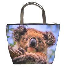 KOALA BEAR womens Bucket bag zippered handbag IMAGE 2 SIDES 95604617