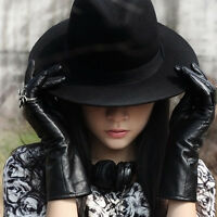 Womens Mens Ladies Fedora Vintage Felt Wool Wide Brim Cloche Floppy Bowler Hats.