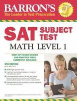 Barron's SAT Subject Test Math Level 1, 5th Edition Wolf Ph.D., Ira K. VeryGood