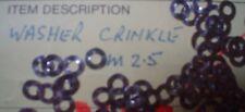 100pcs en acier inoxydable Crinkle Washers M2.5