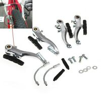 Mountain MTB Bike Bicycle Cycling V-Brake Set Front+Rear Kit Parts Silver