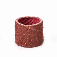 """100x 80 Grit Sand Bands Sanding Sandpaper Sleeve 1/2"""" Mandrel for Rotary Tool"""
