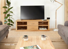 Baumhaus Mobel Oak Mounted Widescreen Television Cabinet - Free Delivery
