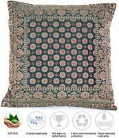 Grün Seide Kissenbezug   Zierkissenbezug   Handgefertigt aus Indien 40cmx40cm
