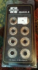 Odyssey Mach 3 Bearings 608ZZ ABEC-3 Tolerance Chrome Alloy Open 16 Pack Unused