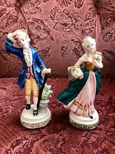 """Vintage Hand Made Hand Painted Italian Fine Pottery """"Courtier"""" Figurines"""