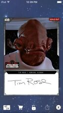 Topps Star Wars Digital Card Trader Black Live Signature Admiral Ackbar Insert
