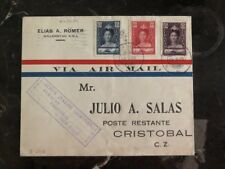 1929 Curacao First FLight airmail cover FFC to Cristobal Canal Zone FAM 5
