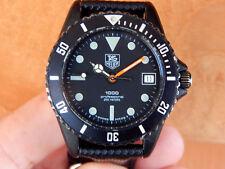 "Vintage TAG Heuer 1000 ""Black Shadow""James Bond Professional 200m Watch 980.026B"