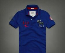 Mens Large A&F Abercrombie Fitch Polo T Shirt Blue Red Brand New Uk Postage gift