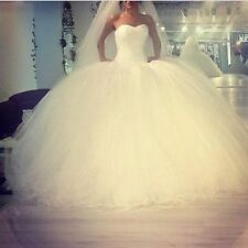 New White Ivory sparkly beading Ball Gown  Wedding Bridal Dress Custom Size