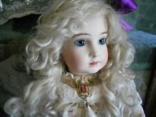 Antique French Reproduction Halopeau Doll in Antique Lace Dress