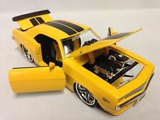"1969 Chevrolet Camaro Z/28, Collectible, 7.75"" Diecast 1:24 Jada Toys, Yellow"