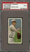 1909-11 T206 Hal Chase Throwing White Cap Sweet Caporal 350 New York PSA 3 VG