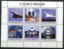BLOC TIMBRE **    AVIATION  CONCORDE  ESPACE 2003   S TOME E PRINCIPE