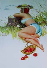 Hilda Watching Ship Basket of Cherries by Duane Bryers