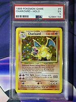 ⭐️ 1999 CHARIZARD ✨ PSA 5 EXCELLENT ✨ BASE SET UNLIMITED 4/102 POKÉMON CARD