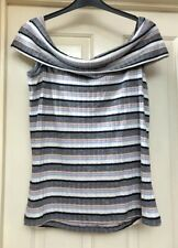 BNWT New Look Curves Soft Striped Off The Shoulder Top, Size 22 - Lovely!
