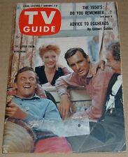 1960 TV GUIDE~GUNSMOKE~AMANDA BLAKE~FIRST DECADE IN TV~I LOVE LUCY LUCILLE BALL
