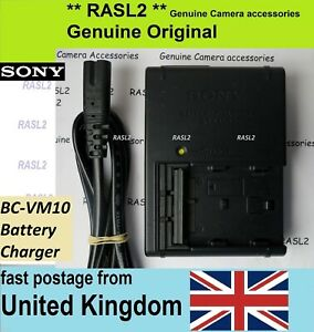 Genuine Sony BC-VM10 Charger For NP-FM500H Alpha A350 A500 A550 A700 A850 A900