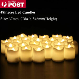 48X LED Tea Light Tealight Candle Flameless Wedding Party Decor Battery Included