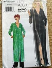 VOGUE EASY pattern 7135 long loose KAFTAN elastic waist straight trouser 8 10 12