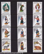 Monaco - Christmas Crib Figures - U/M - 1990 + 1991 + 1992 + 1993 'Bundle'