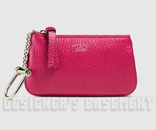 519cf40fb0f GUCCI magenta SWING Leather gold Trademark POUCH Case clip-on wallet NIB  Authent