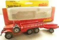 Solido Dodge Fire Truck and Pump Trailer - French Fire Engine Model