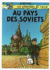 PASTICHE Carte postale Tintin au Pays des Soviets.  .EDWOOD. Ed. des Turlurons.
