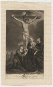 Mezzotint Schabkunst 1778 Spilsbury nach Bartolomé Esteban Murillo Crucifixion