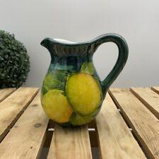 Bassano Céramique Vase Tischvase beau Citron Avec Olive Motif hauteur 20 cm NEUF