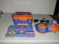 VTech V.Smile TV Learning System Console, 6 Games adapter And Controller